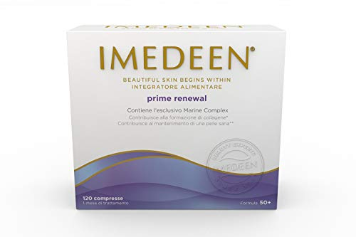 Imedeen Prime Renewal Formula 50+, Integratore Alimentare per la Bellezza della Pelle del Viso e del Corpo