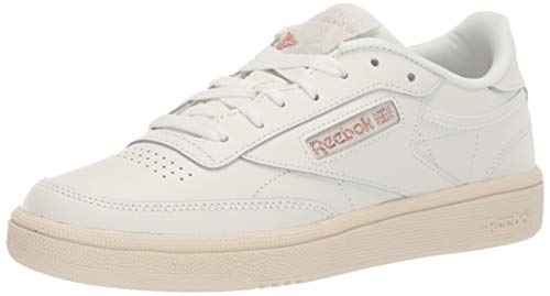 Reebok Women's Club C 85 Sneaker, Chalk/Rose Gold/Paper White, 6 M US