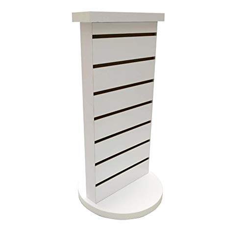 FixtureDisplays 2-Sided Slatwall Counter Spinner Maple Display Rack Great for Gift, Jewelry 15592-WHITE-NF