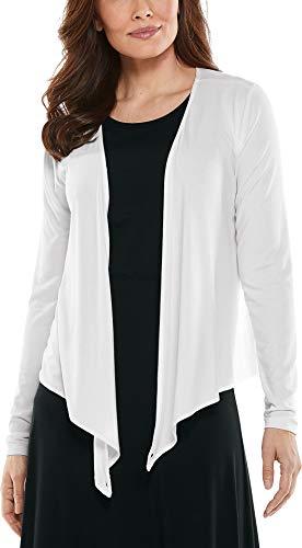 Coolibar UPF 50+ Women's Vrae Everyday Fashion Wrap - Sun Protective (Large- White)