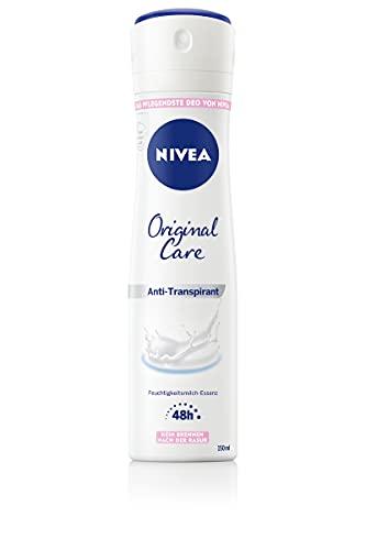 NIVEA Original Care Deo Spray (150 ml), pflegendes Anti-Transpirant mit Hautpflege-Essenz,für 48h zuverlässigen Schutz und sanfte Pflege