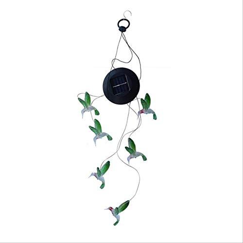 CHHGS Wind chimesSolar Wind Spielzug Licht Drehen Licht Kolibri Solar Geschenk Licht Farbe Led Garten Hängendes Licht Russische Föderation Light Grey