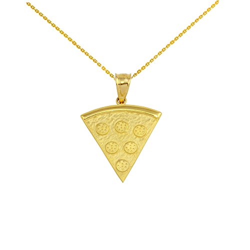 14 ct Yellow Gold Pizza Slice Friendship Pendant Necklace (Comes with an 18' Chain)