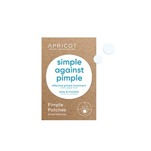 Parches anti acné APRICOT - 72 parches anti acné con hidrocoloide, parches invisibles anti acné para las impurezas de la piel - fabricado en Alemania - vegano