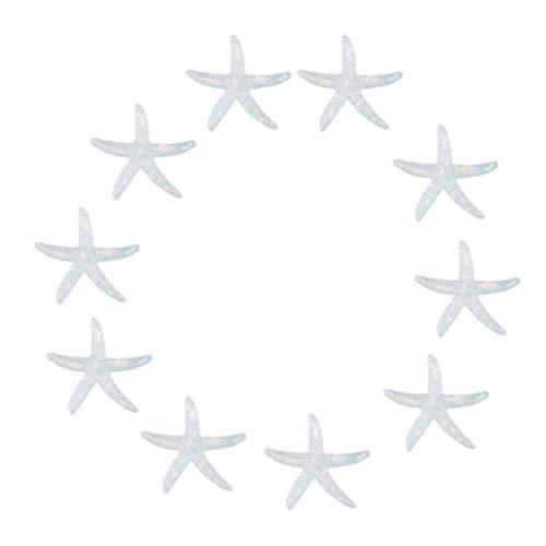 Joysiya 10pcs Resin Starfish Ornaments for Wedding Home Decor and Craft Project - Light Blue