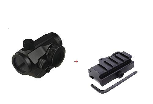 Best Price! GOTICAL Red Micro Dot Sight with Low Profile 5 Slot Picatinny Riser Mount with Quick Rel...