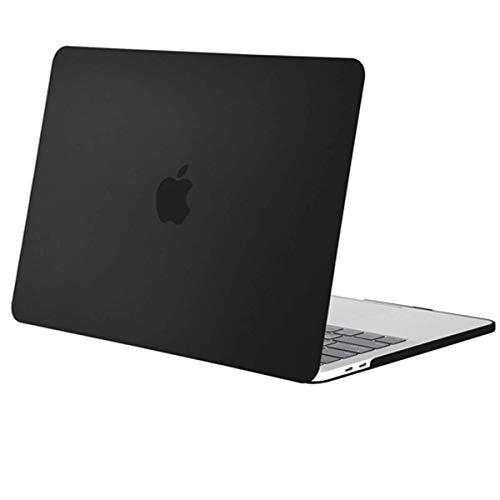 MOSISO Funda Dura Compatible con 2019 2018 2017 2016 MacBook Pro 13 con/sin Touch Bar A2159 A1989 A1706 A1708 USB-C, Ultra Delgado Carcasa Rígida Protector de Plástico Cubierta, Negro