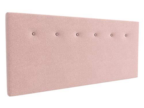 LA WEB DEL COLCHON - Cabecero tapizado Marco para Cama de 80 (90 x 70 cms) Rosa Palo Textil Suave | Cabezal Cama | Cama Matrimonio | Cama Juvenil |
