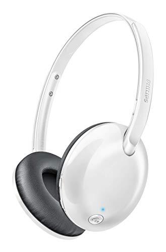 Philips SHB4405WT/00 Flite Ultrlite On-Ear Kopfhörer (mit Mikrofon, Bluetooth) weiß