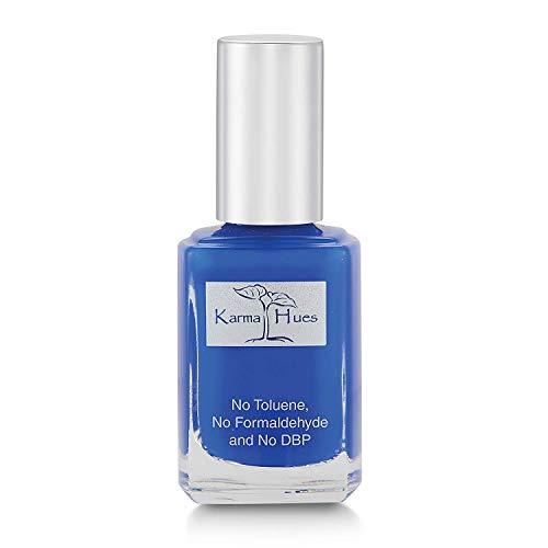 Esmalte de uñas natural orgánico Karma, pintura de uñas no tóxica, vegana y sin crueldad (AZUL AZUL)