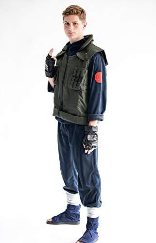CoolChange Cosplay Kostüm von Kakashi Hatake | Ninja Uniform mit Weste | Größe: M