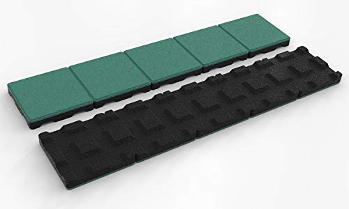 RDX Racedesign Fallschutz SECUPLAY Gummi Mähkante/Rasenkante 100x20x3,6cm, Grün XL