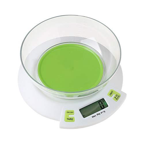 Keukenweegschaal digitale weegschaal voedselschaal hoge nauwkeurige precisie keuken bakschaal huishouden met container groen HUYP