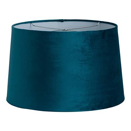 40cm Grote Blauwe Blauwe Groene Fluwelen Lampenkap Lichte Schaduw - Harp & Finiaal Fitting
