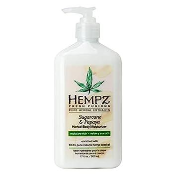 Hempz Herbal Body Moisturizer for Women with 100% Pure Hemp Seed Oil Sugarcane & Papaya 17 fl oz - Moisturizing Lotion with Shea Butter Vitamins A B & C for Dry Skin - Premium Women's Lotion