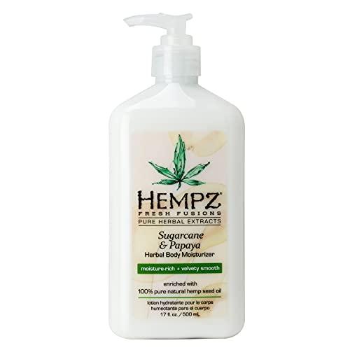 Hempz Herbal Body Moisturizer, Sugarcane and Papaya, 17 Oz