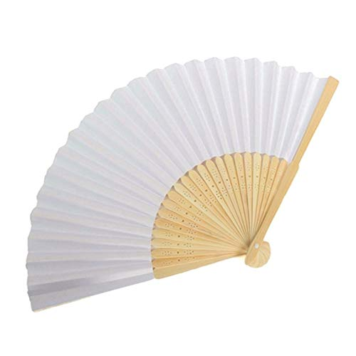 Abanicos para Pintar, Everpert Abanico Plegable de Mano, Ventilador Plegable de Bambú...
