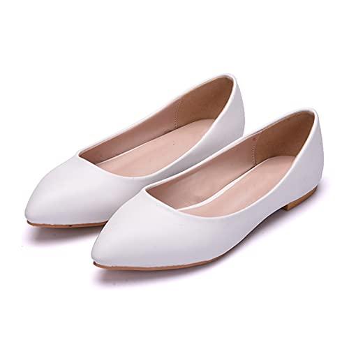 Zapatos Boda Mujeres, Zapatos Novia Planos Talla Grande,Zapatos Dama Honor Boca Poco...
