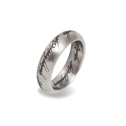 Herr der Ringe / Lord of the Rings - Der Eine Ring Edelstahl in prächtigem Metall Schmuckdisplay - 60