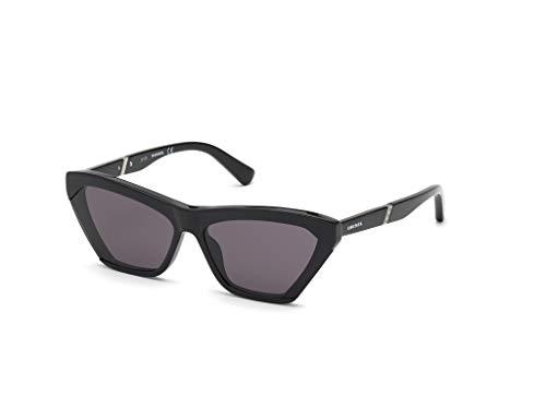 Diesel Eyewear DL0335 Gafas, Shiny Black/Smoke, 61 para Mujer