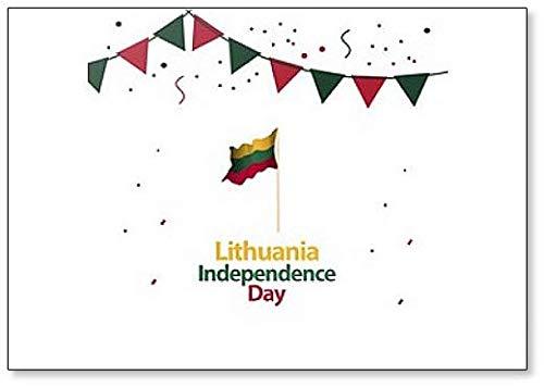 Litauen Independence Day Abstrakte Illustration Klassischer Kühlschrankmagnet