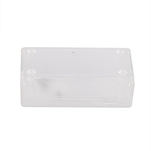Richer-R Für Raspberry Pi Zero Gehäuse, hochwertig Schutzhülle Shell Cover Gehäuse,Hochpräzision Box Gehäuse Hülle für Raspberry Pi Zero Schwarz/Transparent(Clear)