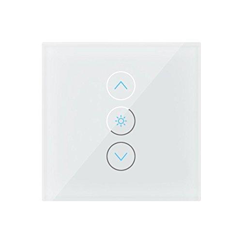 LUXVENUM | Alexa Echo kompatibler 230V Glas Touch-Dimmschalter weiß | passend für alle luxvenum Einbauleuchten | Steuern Sie unsere 230V Einbauleuchten per Sprachsteuerung!