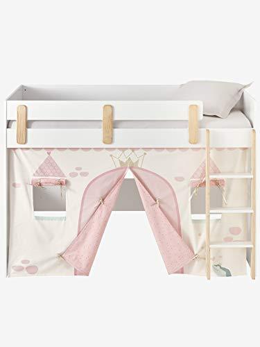 Vertbaudet Tente de lit Princesse féérique pour lit Mezzanine mi Hauteur Ligne Everest Rose TU