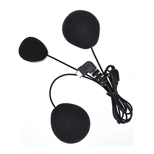 YANYAN MAYALI Casco Accesorios de intercomunicación para Auriculares Auriculares Auriculares Motocicletas Inalámbricas Bluetooth Interphone Piezas Duro/Soft Mic (Color : Type C Hard Mic)
