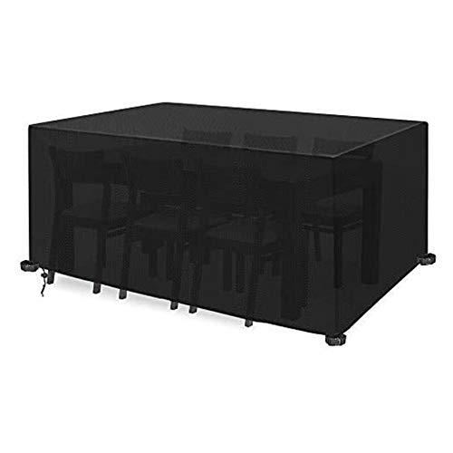 Funda para Muebles De JardíN Funda Protectoras Muebles Jardin Cubierta De Mesas Rectangular Cubierta De Mesa De JardíN Cubierta De Exterior Impermeable Anti-UV Negro(123 X 123 X 74 Cm)