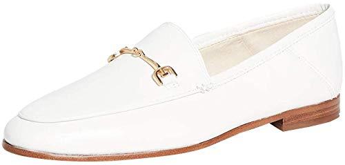 Sam Edelman Women's Loraine Classic Loafer, Bright White Leather, 6.5