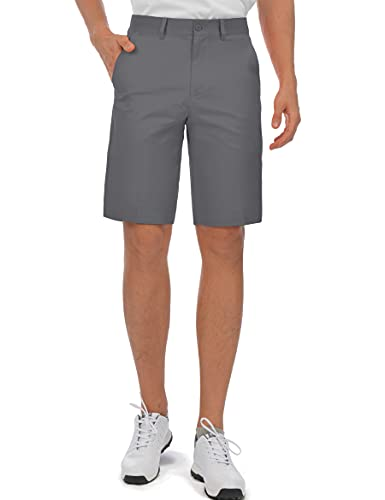 Bakery Men's Golf Shorts Relaxed Fit Cool Quick Dry Flat Front Tech Performance Chino Pants Size 30 Grey