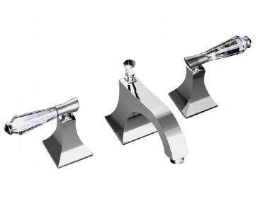 Santec 9220DC49 Edo Crystal Oil Rubbed Bronze Widespread Bathroom Faucet