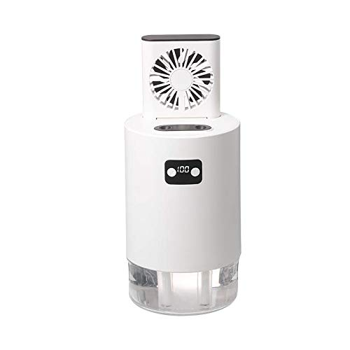 HSD Aire acondicionado portátil de 1000 ml, ventilador USB, ventilador de refrigeración atómica, doble enfriamiento, tamaño del producto: 121 x 121 x 191,5 mm, peso neto: 736 g (B)