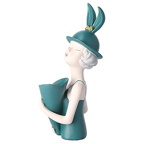 Figuras De Adorno para Decoración del Hogar, Escultura De Jarrón para Niña, Estatua De Jarrón para Niña, Delicada para Sala De Estar, Cafetería, Escritorio, Hogar, Oficina, Regalo
