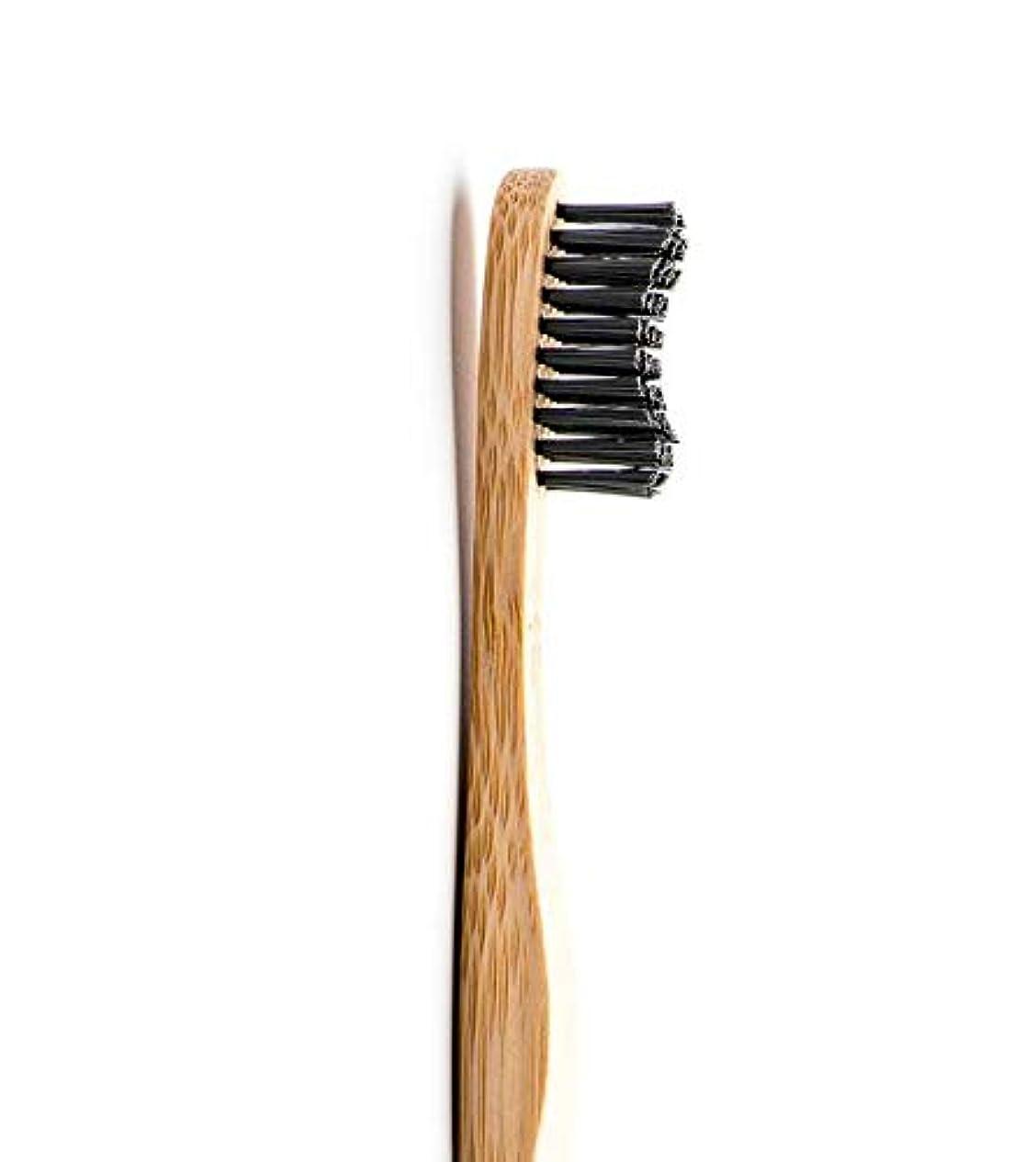 恐ろしい有名な葉を集めるTHE HUMBLE CO.(ザ?ハンブル?コー) 歯ブラシ 大人用 ブラック