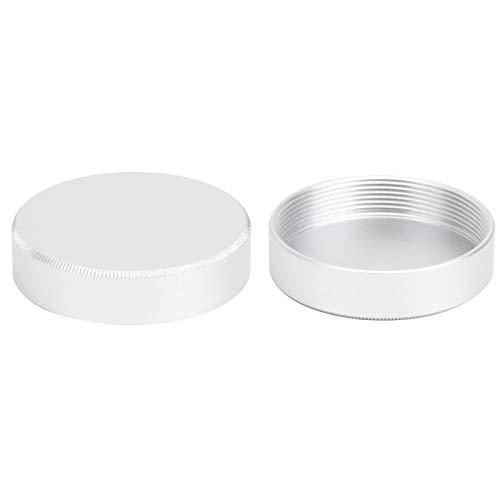 PUSOKEI Paquete de 2 Tapas de Lente Trasera, Tapa de Cuerpo de Tapa de Lente de cámara con Material de aleación de Aluminio, moldura integrada CNC, reemplazo de Tapa de Tapa Trasera para cámara M42
