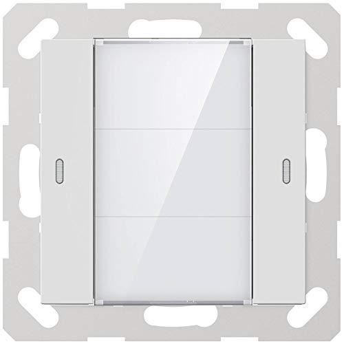 GVS KNX Multifunktions-Tastsensor Advance+, 1-Fach glänzend - ADV-02/02.2.00 inkl. Temperatursensor und Busankoppler