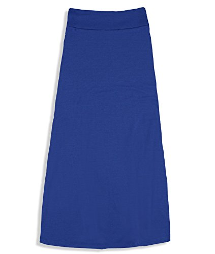 Free to Live Girls 7-16 Maxi Skirts - Great for Uniform (XL, Royal Blue)