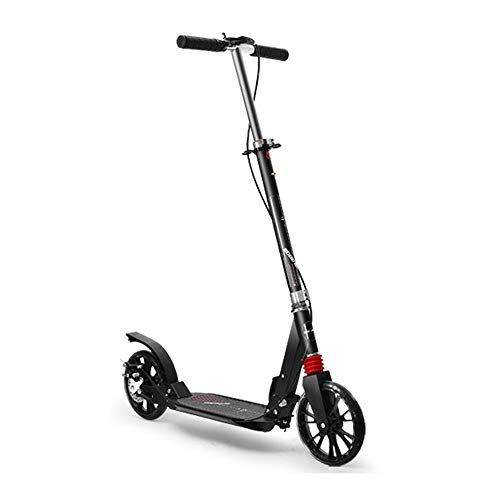 Best Review Of NAN Black Aluminum Alloy Folding Scooter, Adjustable Handle Widened and Enlarged Whee...