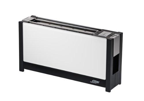 ritter Toaster volcano 5, weiß, Langschlitztoaster mit eleganten Glasfronten, made in Germany