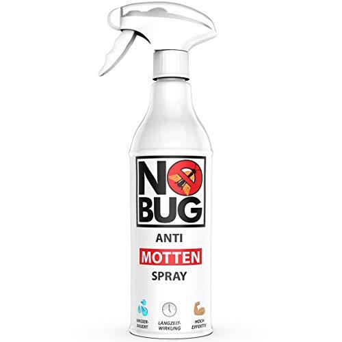 NoBug Mottenspray 500 ml - Mottenschutz für Kleiderschrank mit Lavendelduft - Lebensmittelmotten & Kleidermotten bekämpfen - Anti Motten Spray als Mottenfalle Alternative - Mittel gegen Motten