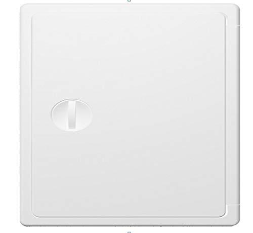 Revisionstür mit Drehgriff, Revisionsklappe, Inspektionstür, Zugangstür (15x15cm, Weiß)