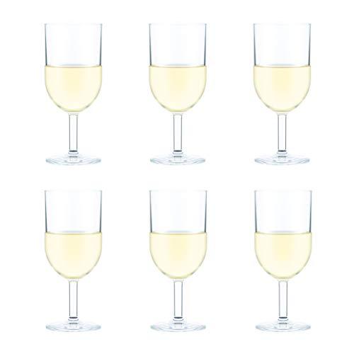 Bodum 11926-10SA-12 OKTETT Bicchieri da vino bianco in plastica resistente, 0,23 litri