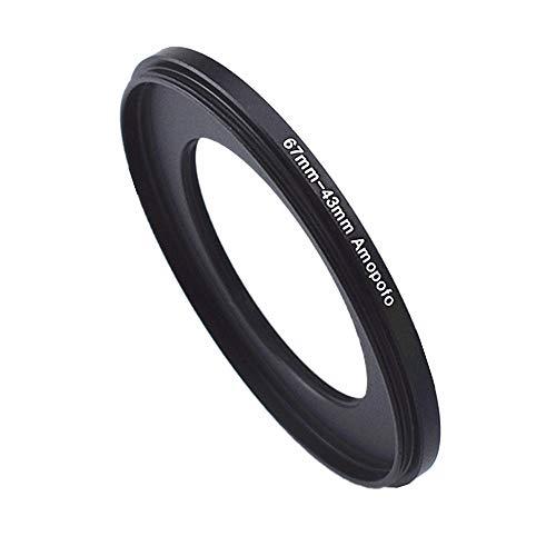 67mm-43mm Kamera Verkleinernde Filteradapter,von Kamera Objektiv mit 67mm Filtergewinde auf 43mm CPL,UV,ND Filter-Ring