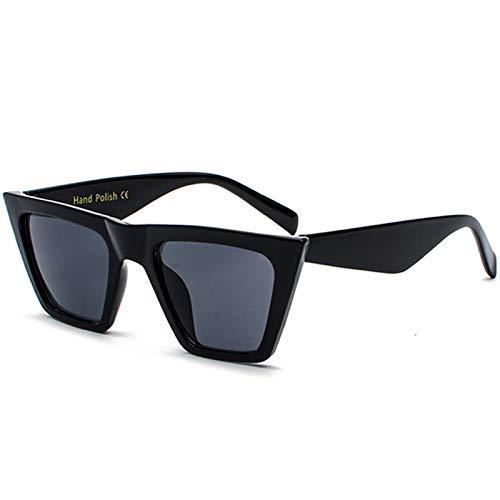 SHEEN KELLY (Caja de regalo Gafas de sol con tapa plana para hombres y mujeres Gafas de sol de estilo sucinto cuadradas de diseñador retro