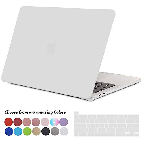 TECOOL MacBook Pro 13 inch Case 2020, Plastic Protective Hard Shell Case Cover and EU Keyboard Cover for Apple New MacBook Pro 13 Retina with Touch Bar, Model: A2289 / A2251 - Matte Clear