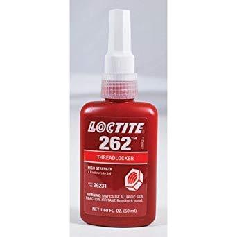 Loctite 26231 Red 262 High-Strength Threadlocker, 1.69 fl. oz. Bottle (Limited Edition)