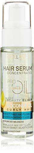 Vollaré Cosmetics Haarserum Kokosnussöl (3x 30ml) Haaröl, Pflegeserum für die Pflege von lockigem Haar