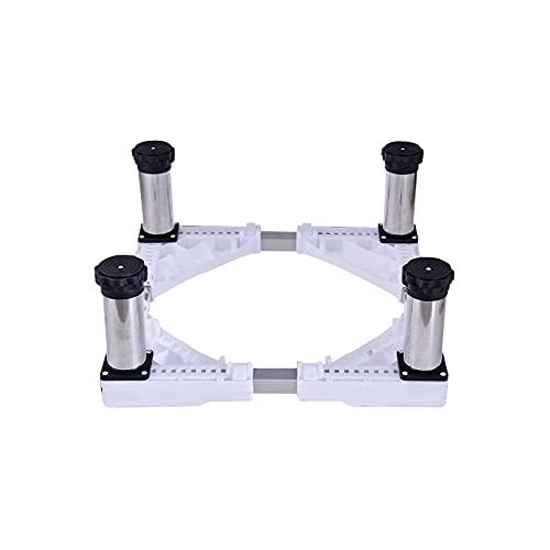 YiHYSj Multi-Funcional Refrigerador Lavadora Base Heightening Secadora Universal Base Ajustable Largo/Ancho 45-68cm Pedestal y Marco para Neveras Antideslizante 4/8/12 Pies (4Legs,19-22cm)